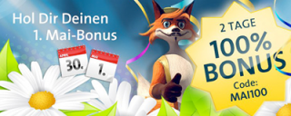 1. Mai Bonus im Sunmaker Casino