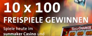 10 x 100 Freispiele im Sunmaker Casino gewinnen