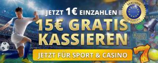 Nur für Kurze Zeit: 15€ Gratis im Sunmaker Casino
