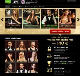 Live Casino Angebot