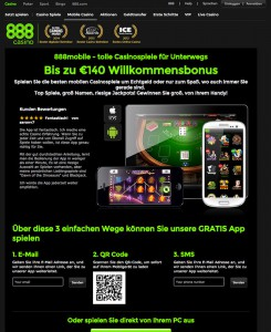 Mobiles Angebot vom 888 Casino