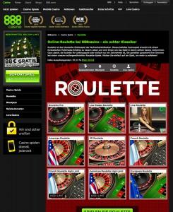 Roulette spielen im 888 Casino