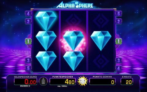 Features im Merkur Spiel Alpha Sphere