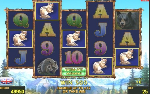 Extra Bet im American Wilds Automatenspiel