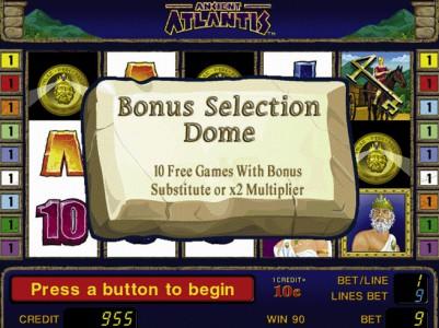Auch ein Freispiel Gewinn in Ancient Atlantis ist möglich