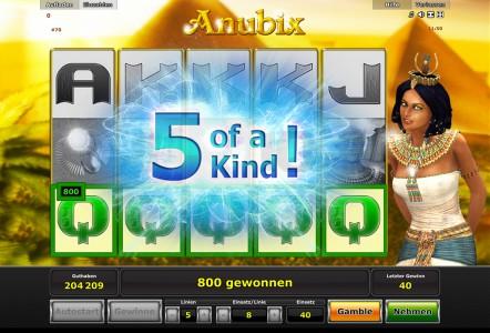 5 of a kind in Anubix