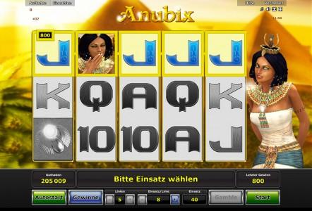 800€ Gewinn im Spielautomaten Spiel Anubix