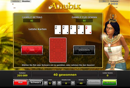 Natürlich bietet Dir Anubix auch das bekannte Kartenrisiko Spiel