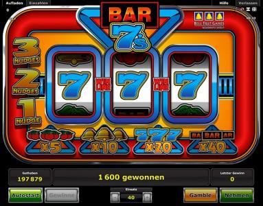 Bar 7s jetzt bei Stargames spielen