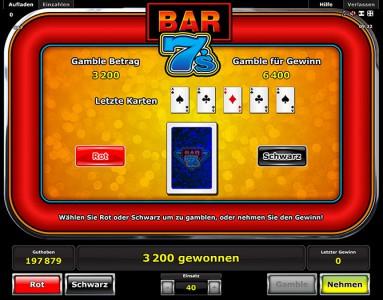 Verdoppel Deine Gewinne mit dem Kartenrisiko beim Bar 7s spielen