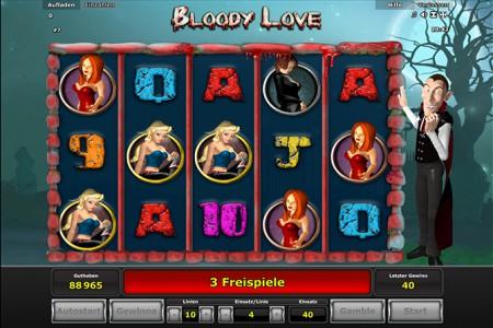 Freispiele in Bloody Love