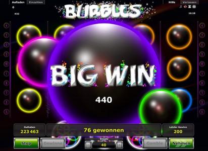 Novoline Bubbles Big Winn