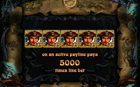 Piraten Symbol in Cape Gold