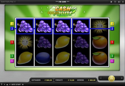 Das Merkur Spiel Cash Fruits Plus