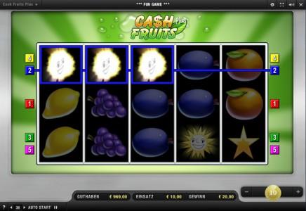 Cash Fruits Plus kostenlos spielen