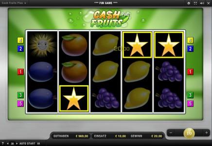 Cash Fruits Plus Gewinn mit Sternen