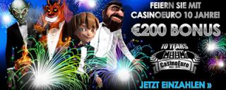 CasinoEuro feiert 10-jähriges Jubiläum