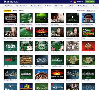 Tischspiele wie Poker oder Roulette im CasinoEuro spielen