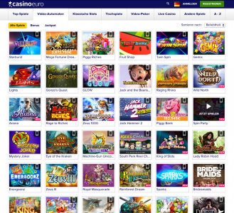 Übersicht der Video Spielautomaten