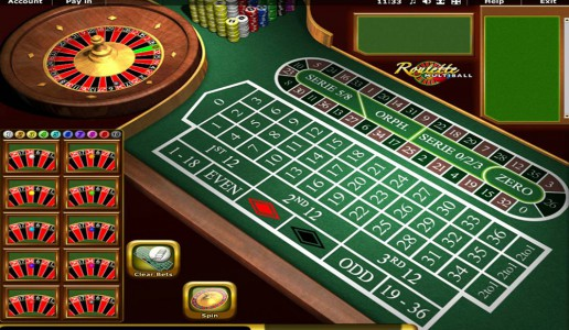 Das Spielfeld von Multiball Roulette
