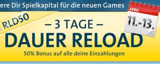 3 Tage lang 50% Reload Bonus im Sunmaker Casino