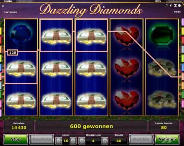 Dazzling Diamonds Gewinn Ausschüttung