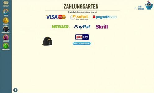 Die verschiedenen Zahlungsarten, die DrückGlück anbietet