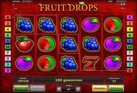 Tolle Gewinne erwarten Dich in Fruit Drops