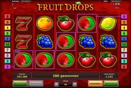 Wie der Name schon verrät begegnen dir einige Früchte im Novoline Spiel Fruit Drops