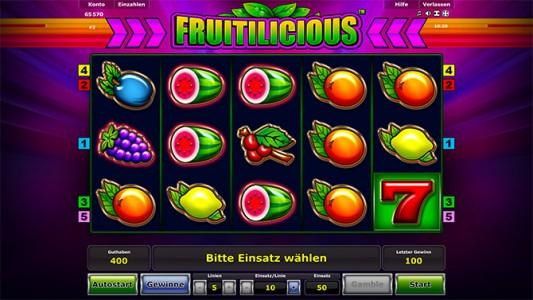 Jetzt anmelden und Fruitilicious online spielen