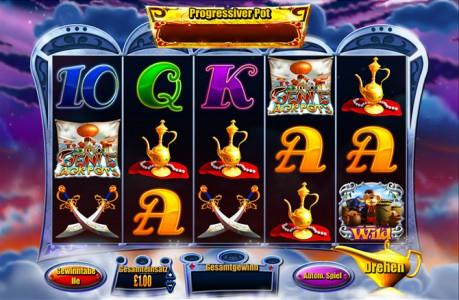 Knacke den progressiven Jackpot im Genie Jackpots Automatenspiel