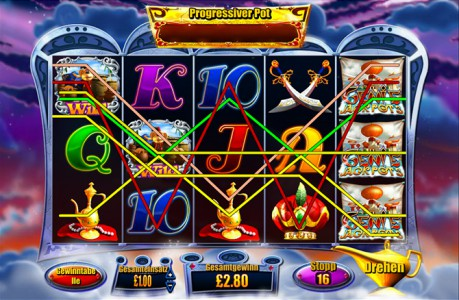 Die Gewinnlinien zum Genie Jackpots spiele