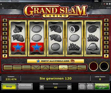 Grand Slam Casino Gewinn mit Wild-Symbol