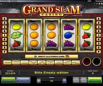 Grand Slam Casino Startbildschirm