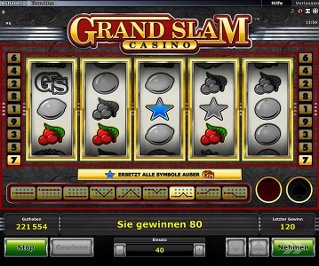 Grand Slam Casino Wild Symbol Gewinn