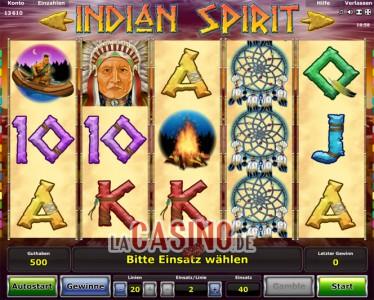 Indian Spirit Startbildschirm