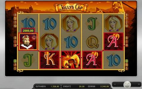 Wahnsinns Gewinn im Jolly's Cap Spielautomat