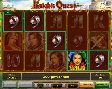 Knights Quest Gewinn
