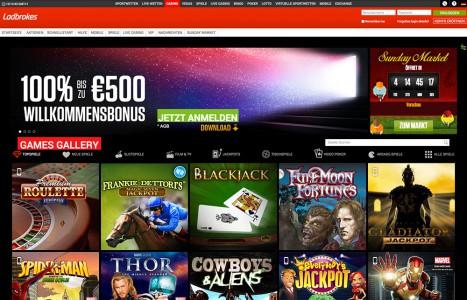 Ladbrokes Casino - das Spielangebot
