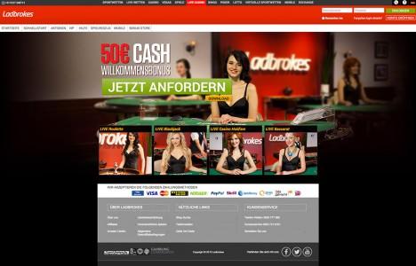 Das Live Casino Angebot des Anbieters