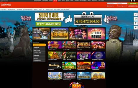 Das Casino vegas von Ladbrokes