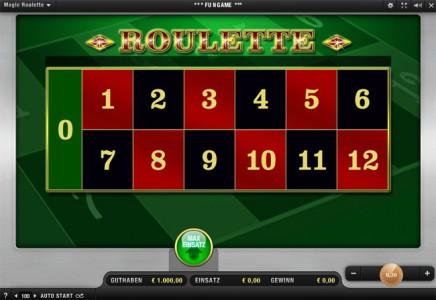 Magic Roulette - So kannst Du deine Wetten platzieren