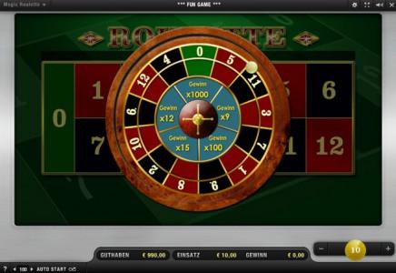 Magic Roulette online bei Sunmaker spielen