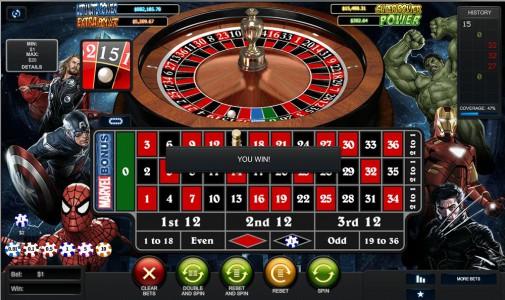 Marvel Roulette von Playtech kostenlos spielen
