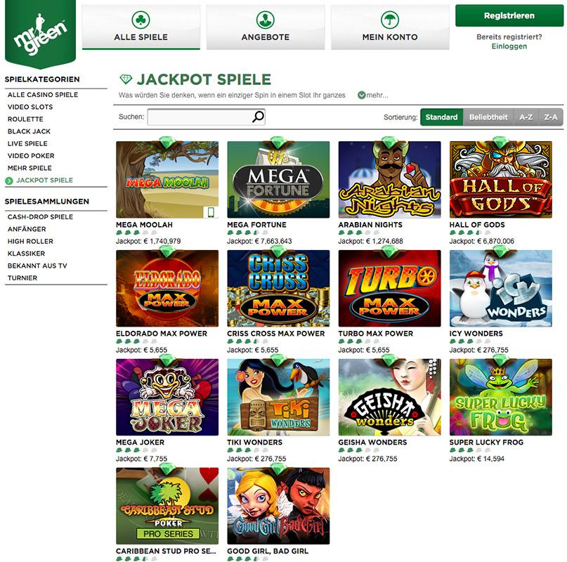 Casino Spiele Mr Green