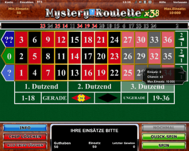 Der Roulette Spielautomat Mystery Roulette x38