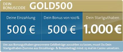 500 Euro Neukunden Bonus im SunMaker Casino