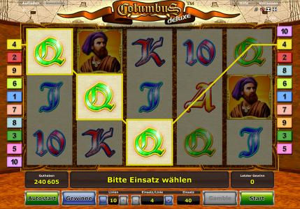 Columbus Deluxe ist auch 5 Walzen Automatenspiel