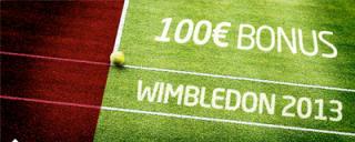 Nur für kurze Zeit! Wimbledon 2013 Wetten und 100 Euro