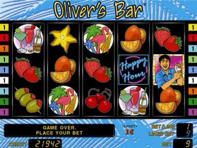 Olivers Bar Startbildschirm